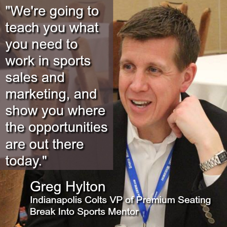 break into sports learn sports sales sports business