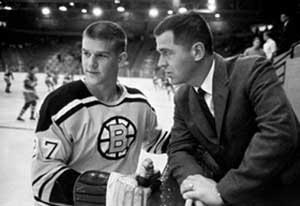 Harry Sinden and Bobby Orr